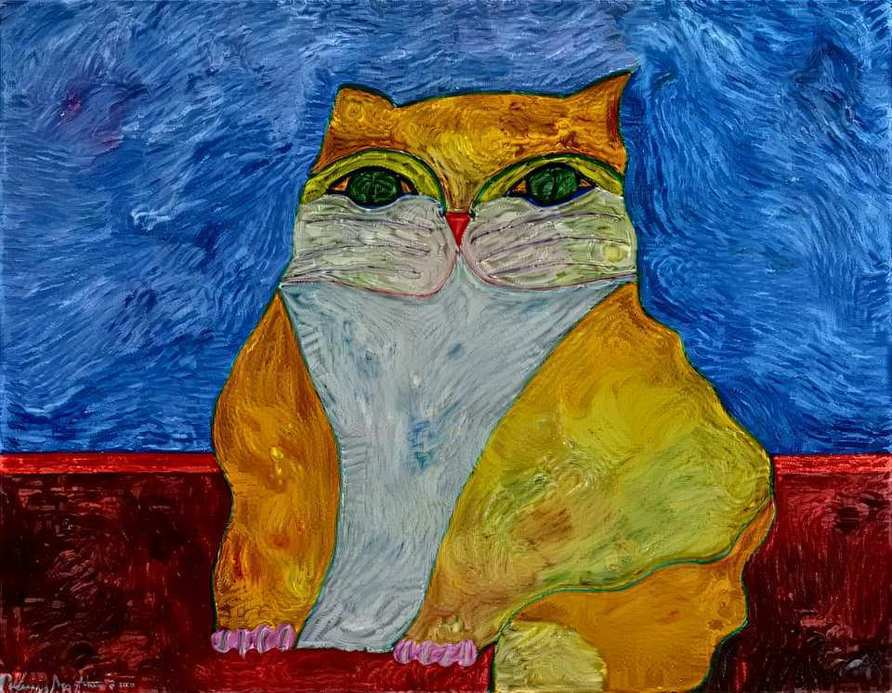 Gato na noite de Van Gogh product image