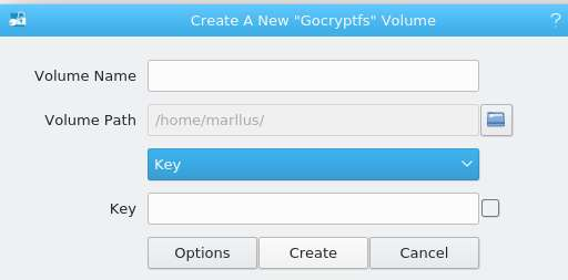 Adaptive volume encryption: the total size will be defined with the number of files over time